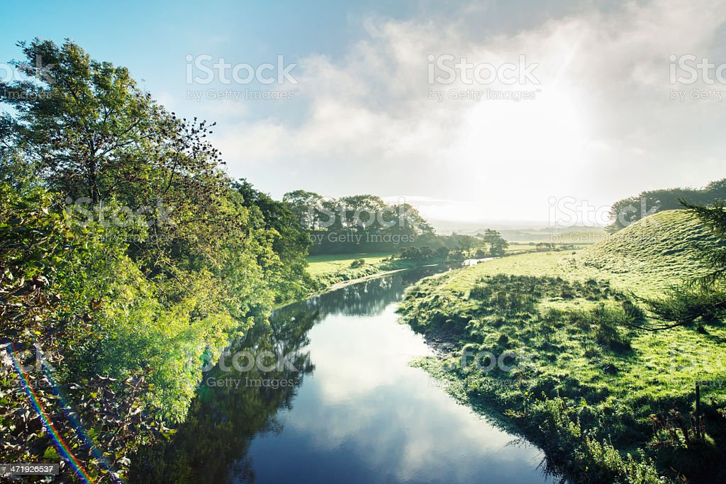 River in Irish Countryside royalty-free stock photo