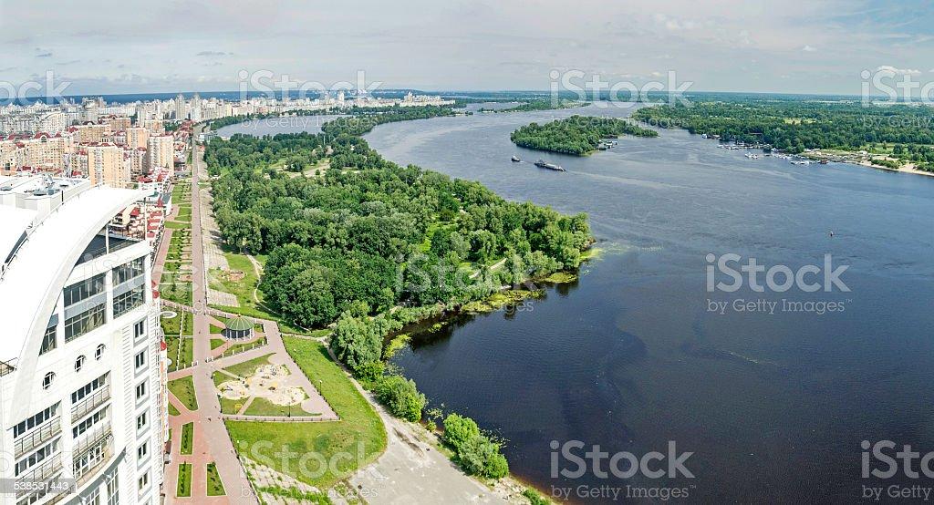 River in Kiev stock photo