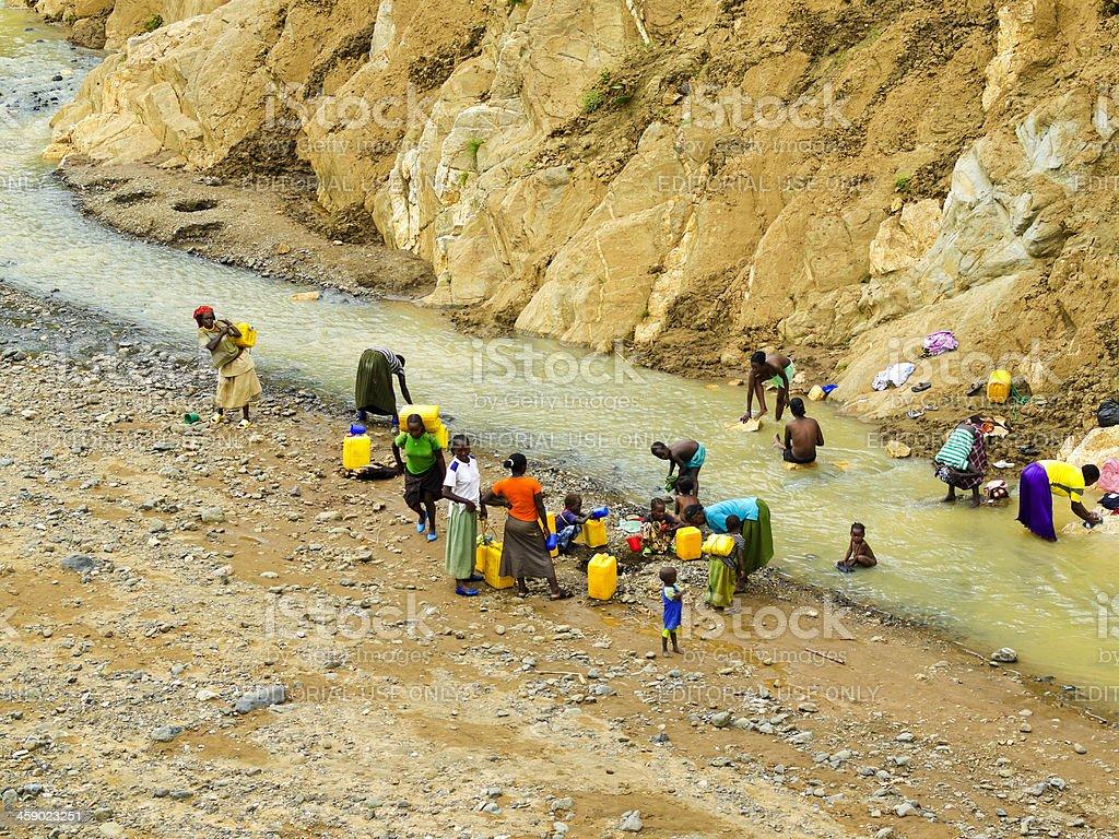 River in  Konso stock photo