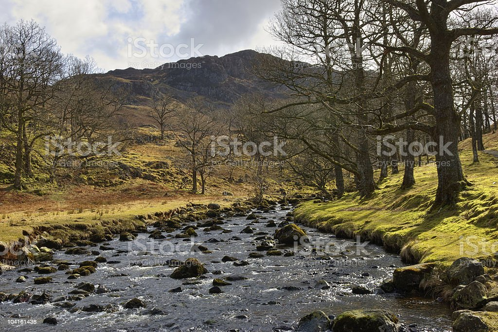 River in Lake District Park royalty-free stock photo