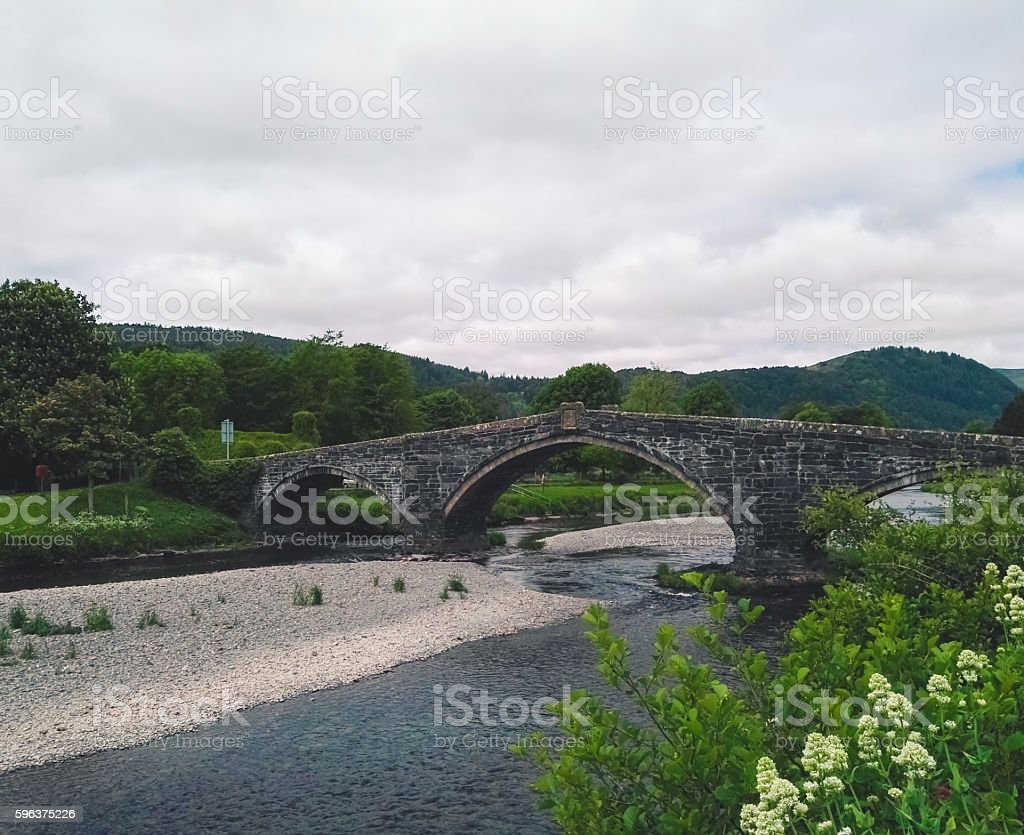 River in Llranrwst stock photo