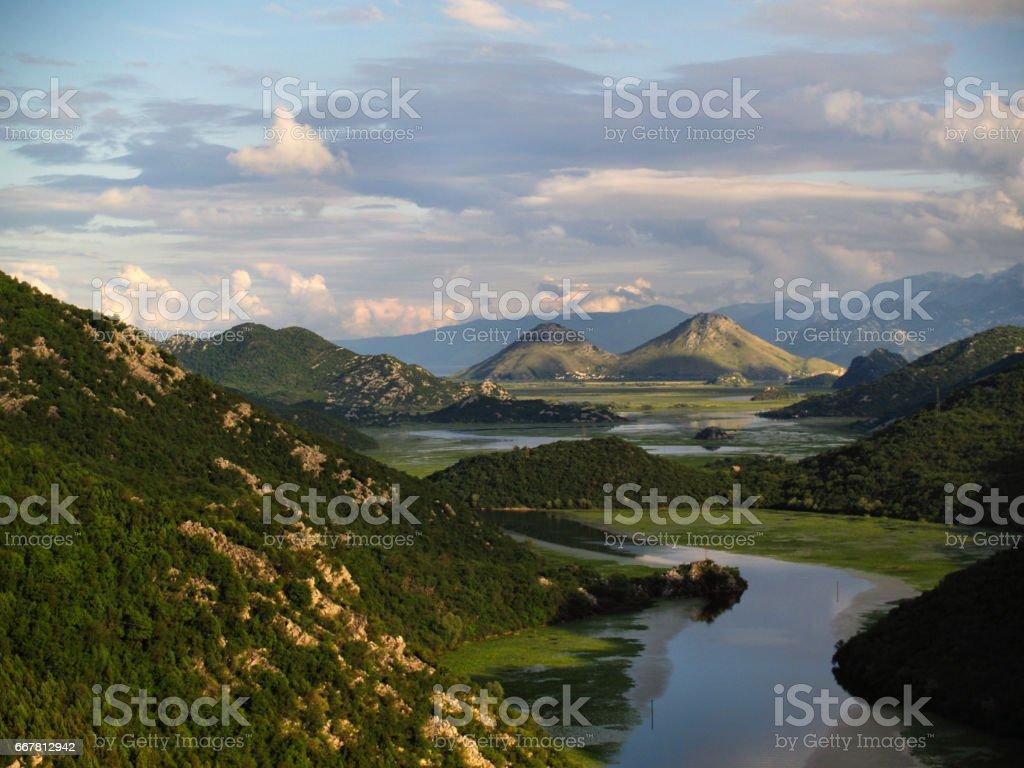 River in Montenegro stock photo