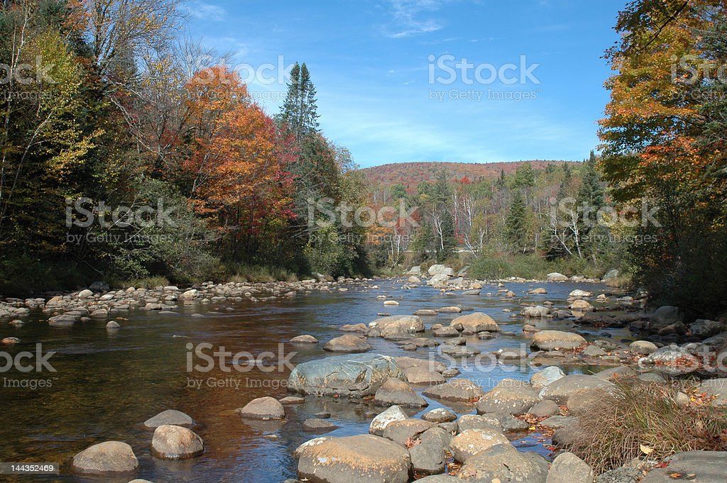 River in New Hampshire stock photo