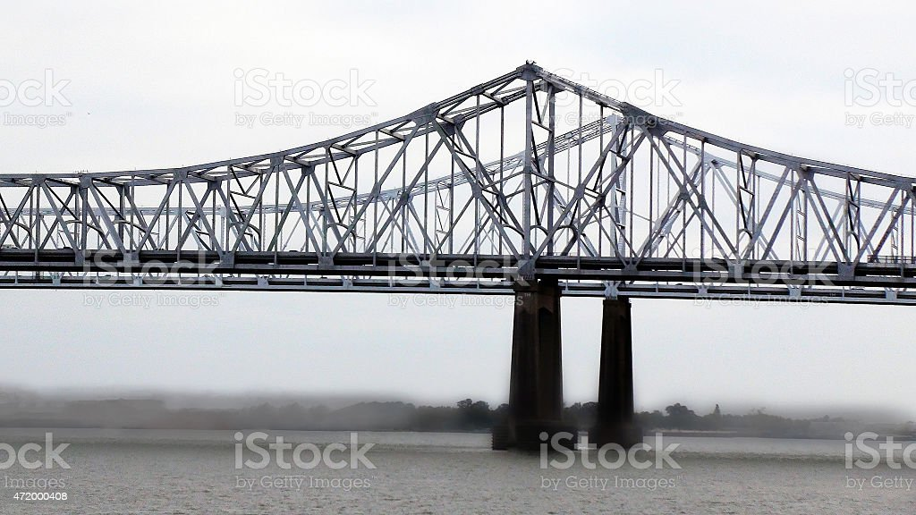 River in New Orleans stock photo