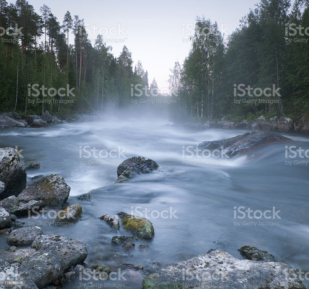 river in northern Russia royalty-free stock photo