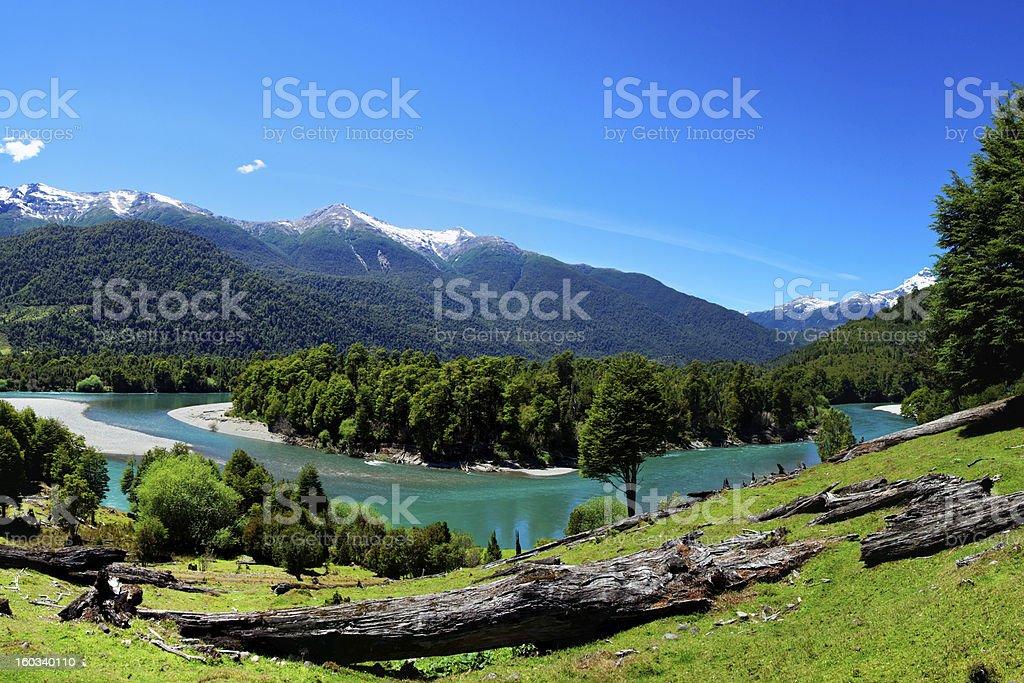 River in Patagonia, El Pangue, Chile royalty-free stock photo