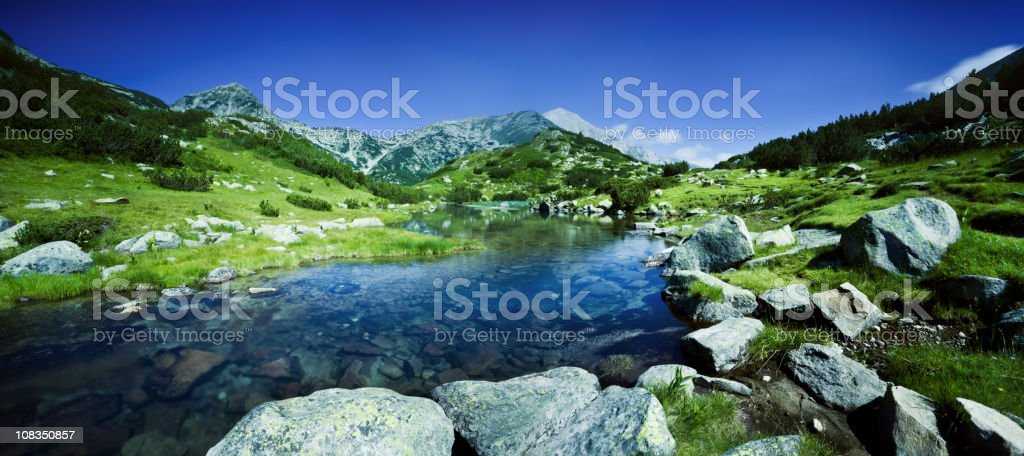 River in Pirin mountains stock photo