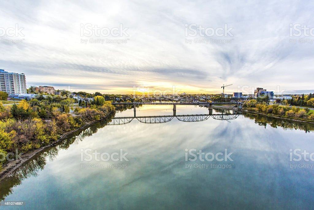 River in Saskatoon stock photo