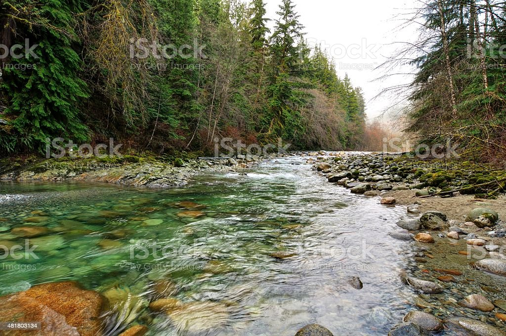 River in the mountain stock photo