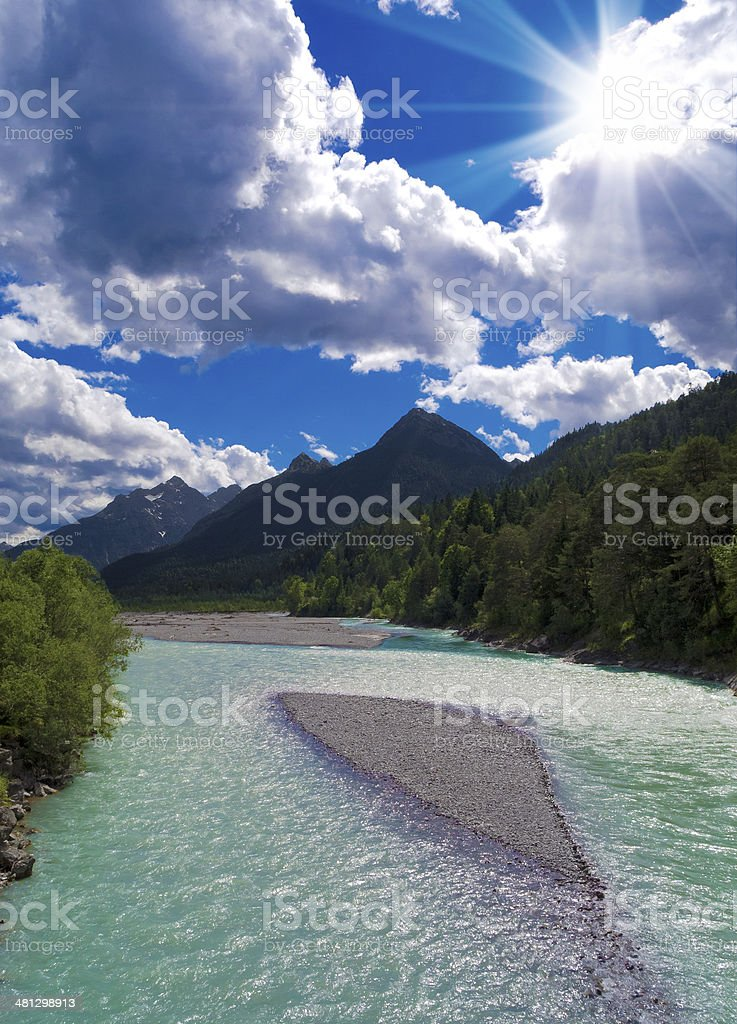 river in the mountains royalty-free stock photo