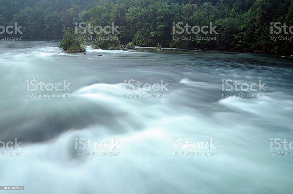 River in the Rhine Falls stock photo