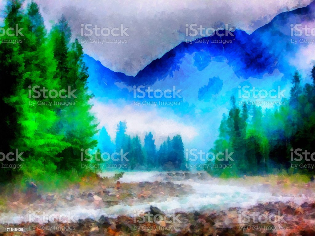 River in woods royalty-free stock photo