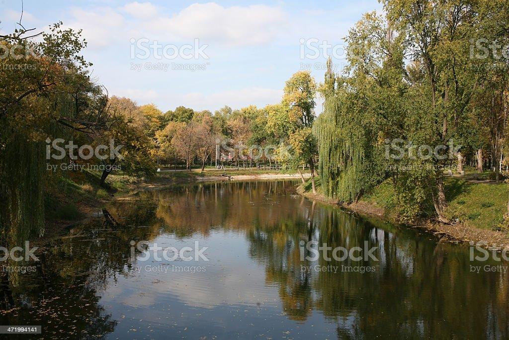 River Ingulets in Krivoy Rog royalty-free stock photo