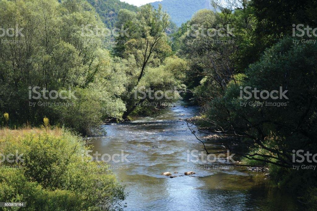 River Jerma, Serbia stock photo