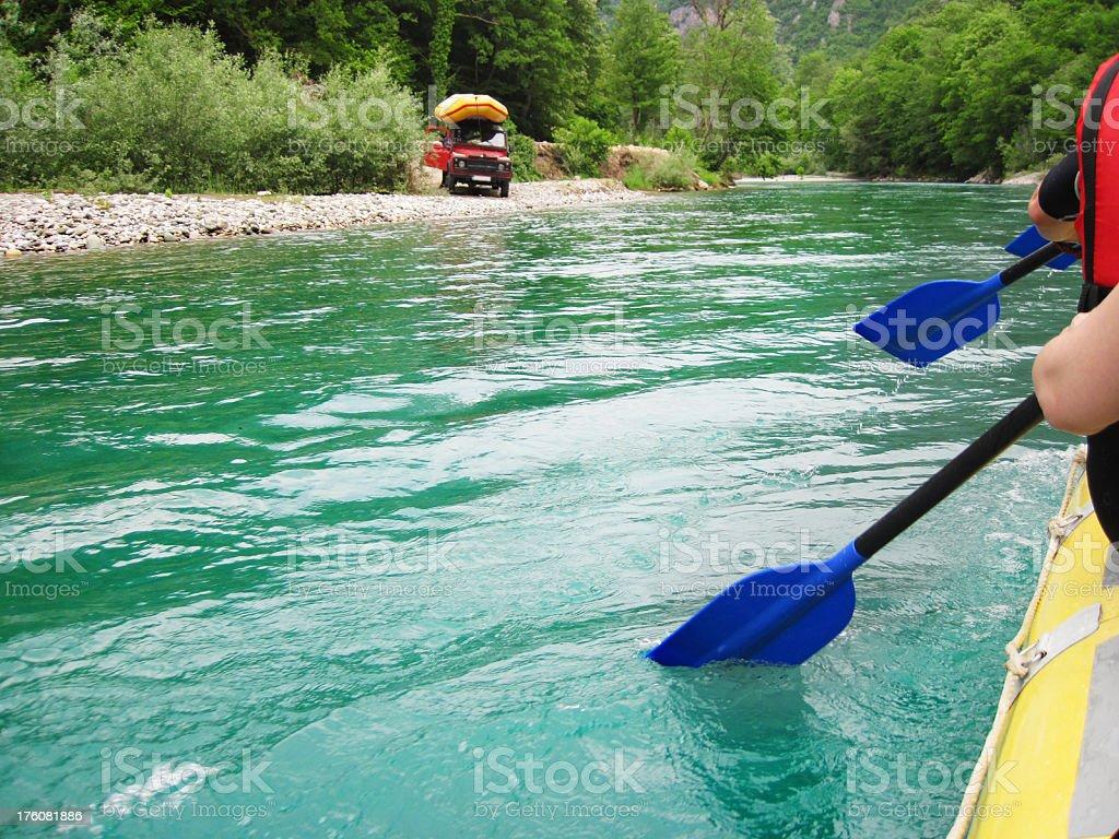 River joy stock photo