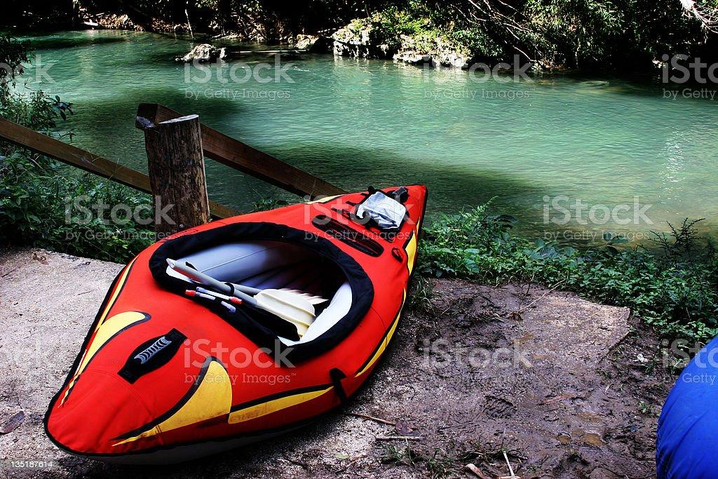 River Kayak royalty-free stock photo