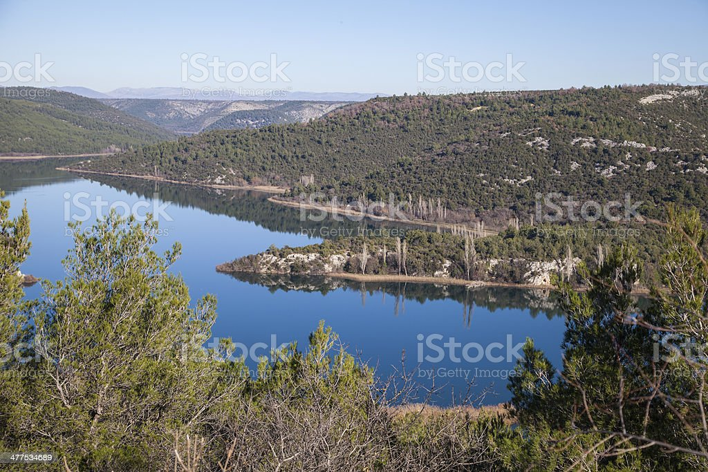 River Krka national park royalty-free stock photo