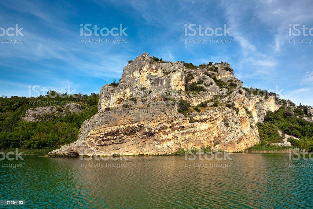 River Krka stock photo