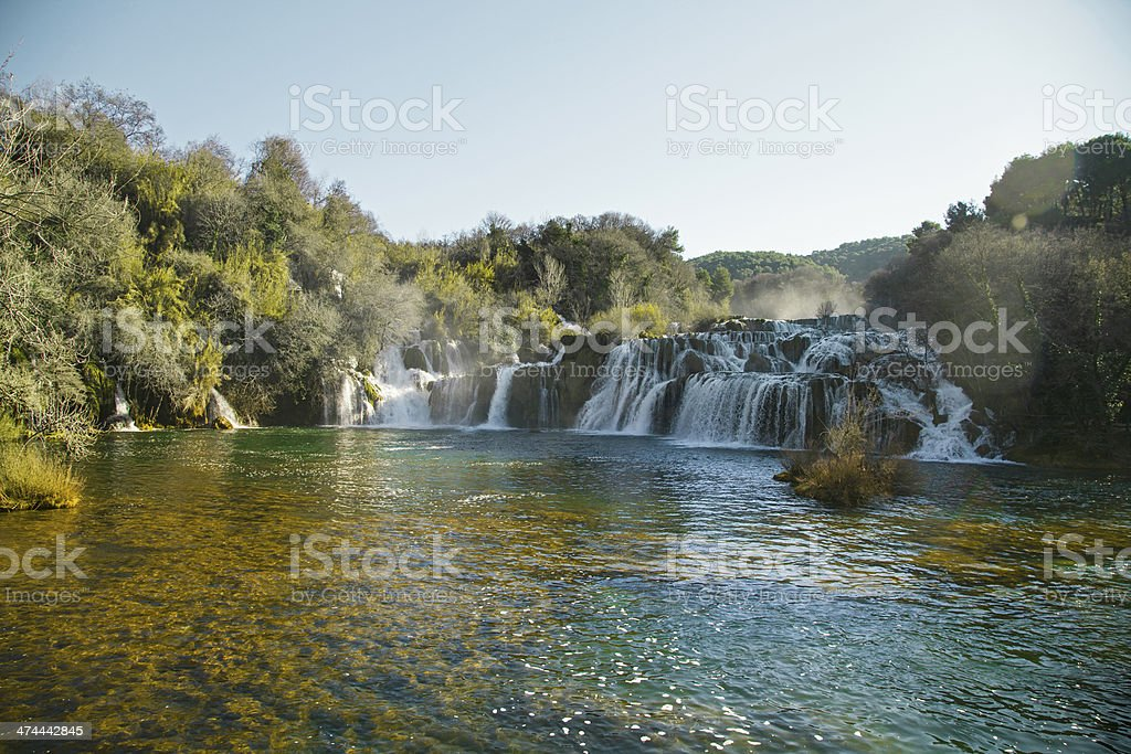 River Krka waterfalls stock photo
