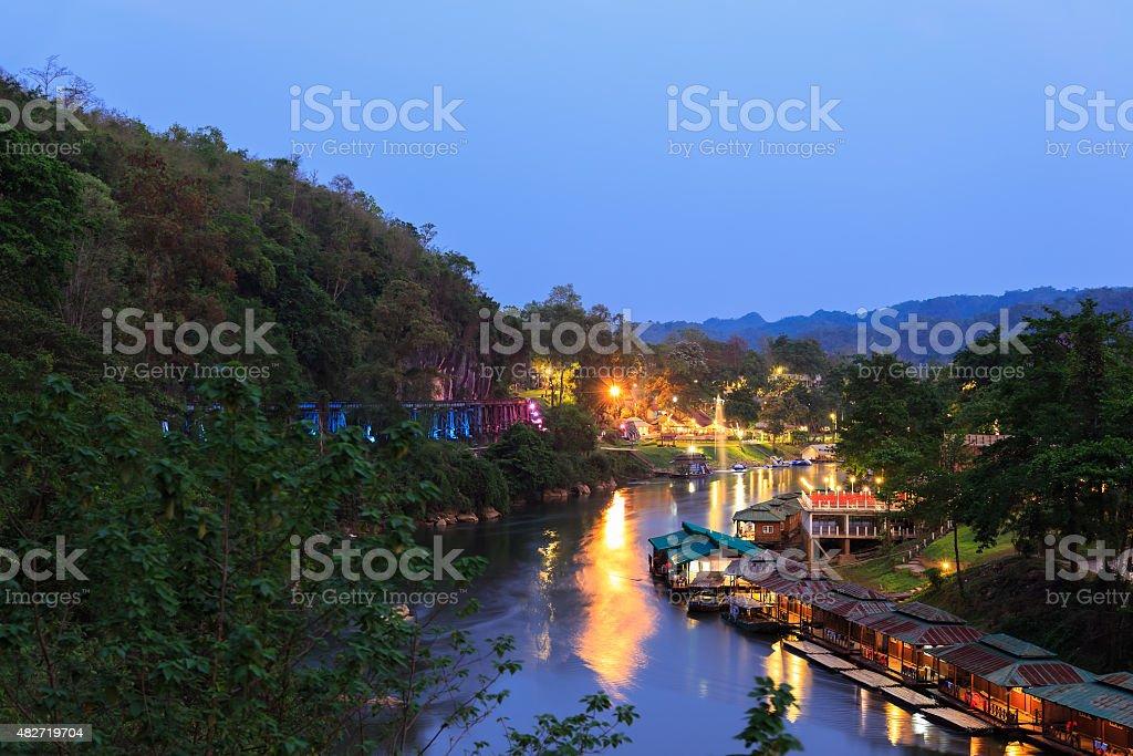 River Kwai at Krasae Cave bridge, Thailand-Burma Death railway, stock photo