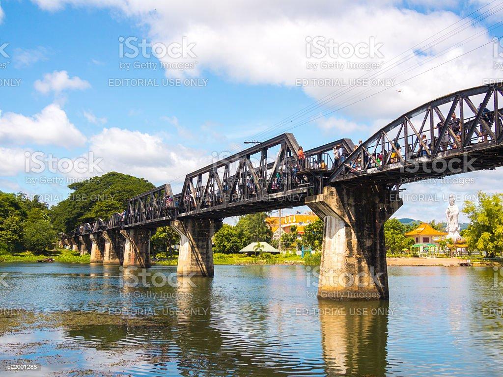 River Kwai Bridge in Kanchanaburi, Thailand stock photo