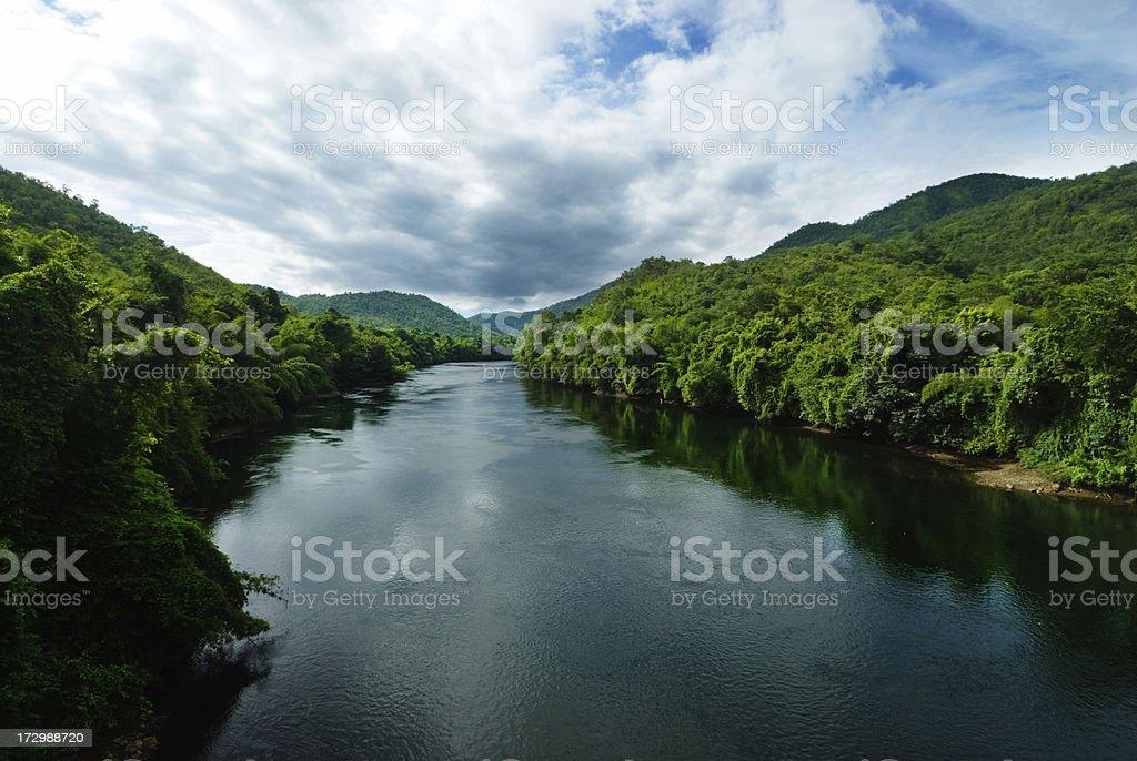 River Kwai in Kanchanaburi stock photo