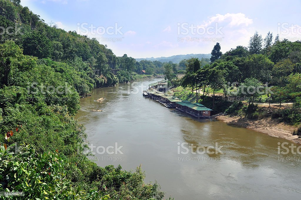 River Kwai in Thailand stock photo
