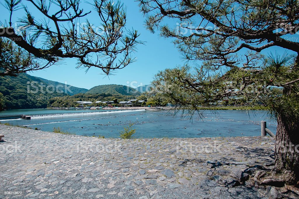River Kyoto stock photo