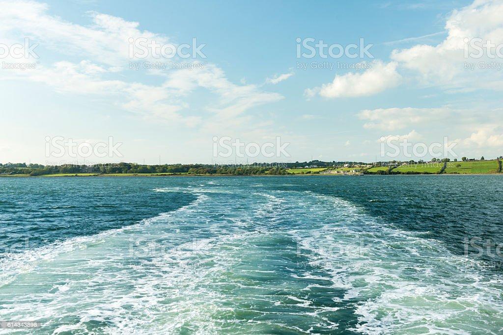 River landscape in Ireland stock photo