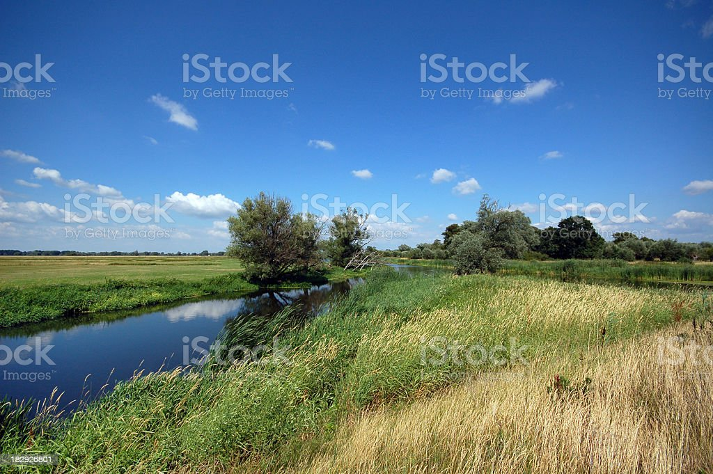 river landscape on Havel (Brandenburg) stock photo