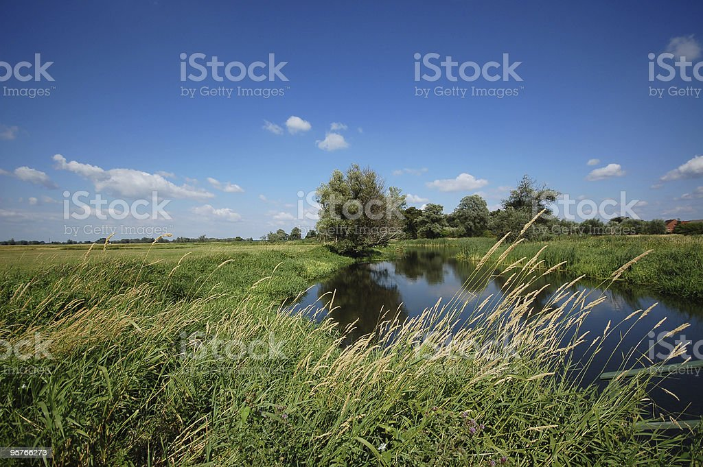 river landscape on Havel (Brandenburg) royalty-free stock photo