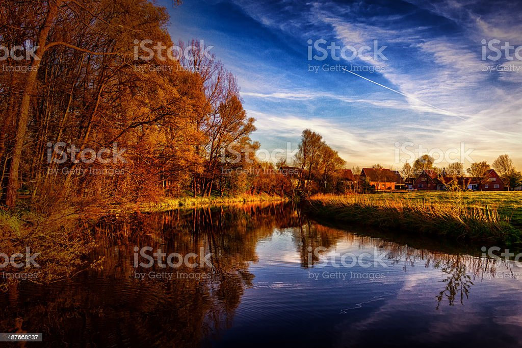 Flusslandschaft stock photo