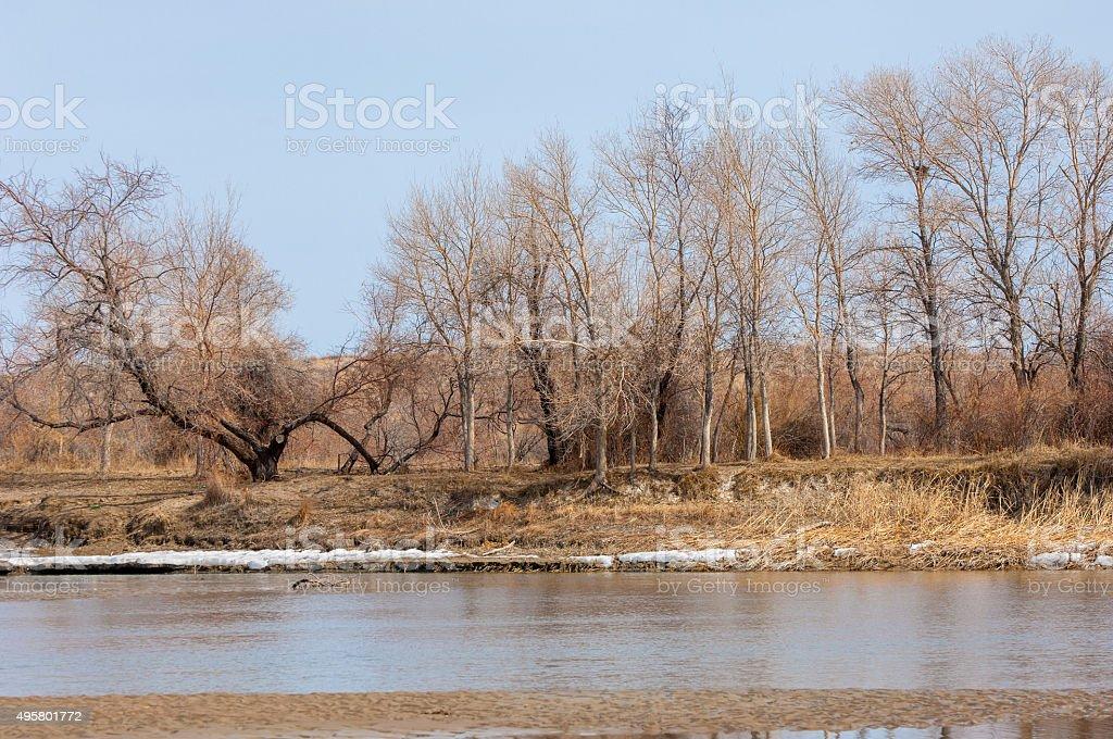 river last ice stock photo