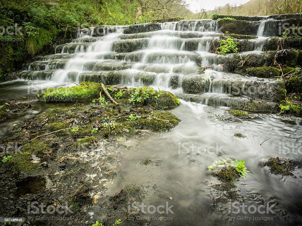 River Lathkill , Derbyshire England stock photo
