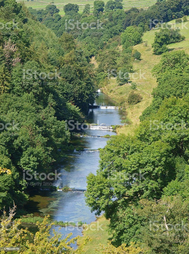 River Lathkill stock photo