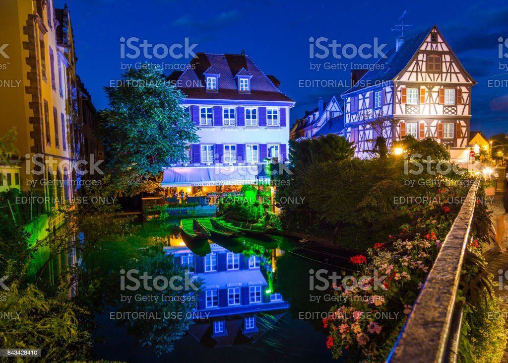 River Lauch and Little Venice in Colmar stock photo