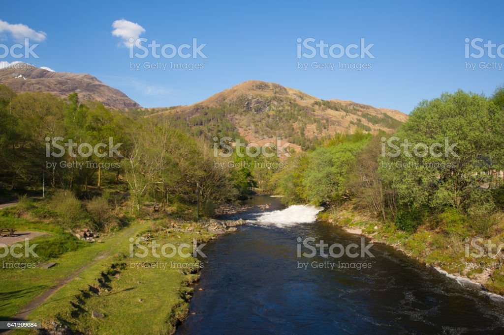 River Leven Kinlochmore near Kinlochleven Scotland UK stock photo