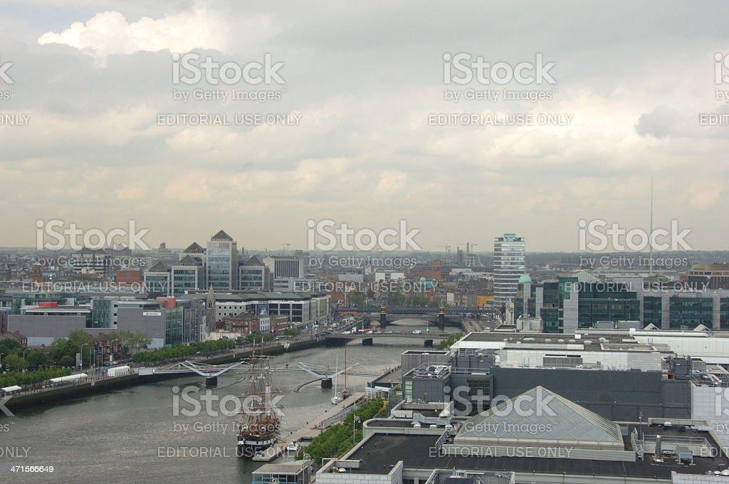 River Liffey Dublin City centre royalty-free stock photo