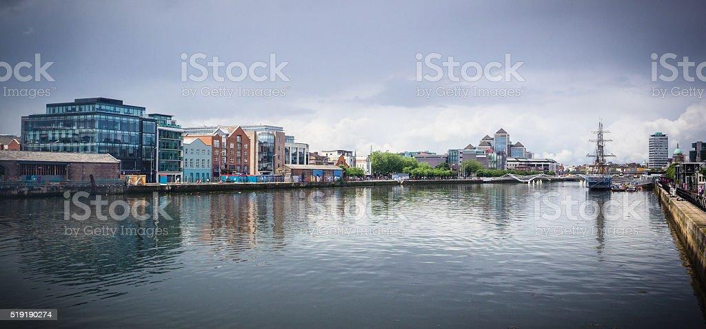 River Liffey , Dublin stock photo