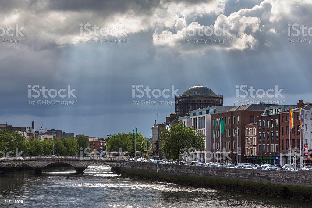 River Liffey - Dublin - Republic of Ireland stock photo