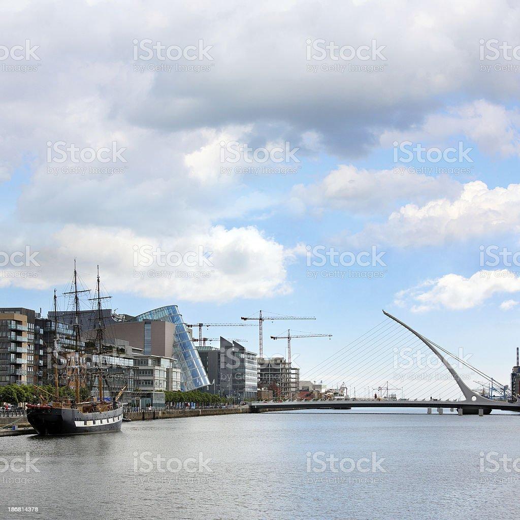 River Liffey in Dublin royalty-free stock photo