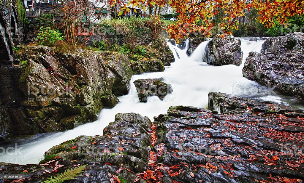 River Llugwy,Betws-Y-Coed,North Wales stock photo