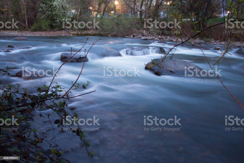 River, long exposure stock photo