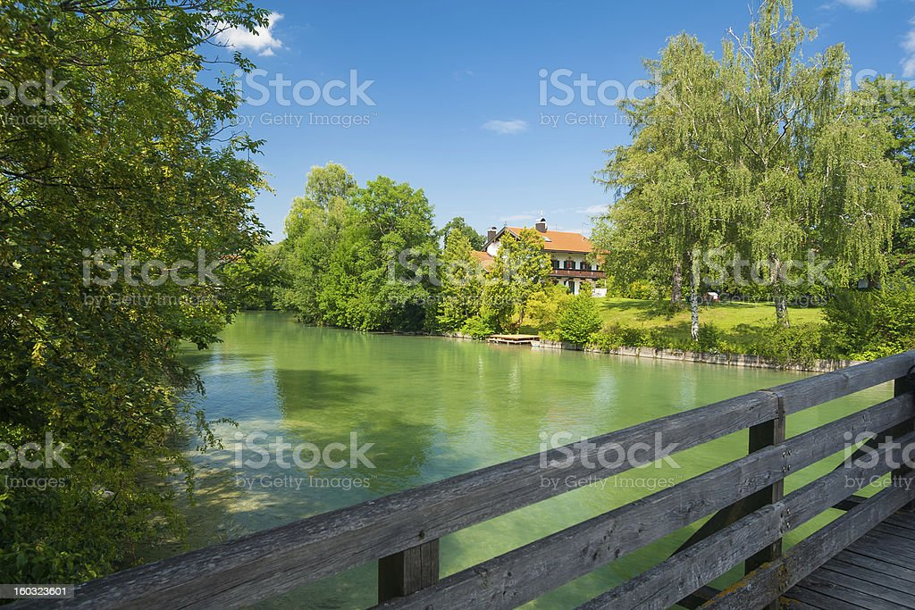 River Mangfall near the town Gmund royalty-free stock photo