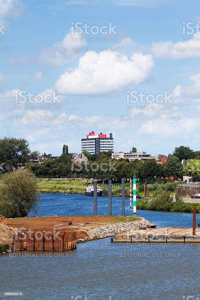 River Mass in Venlo stock photo