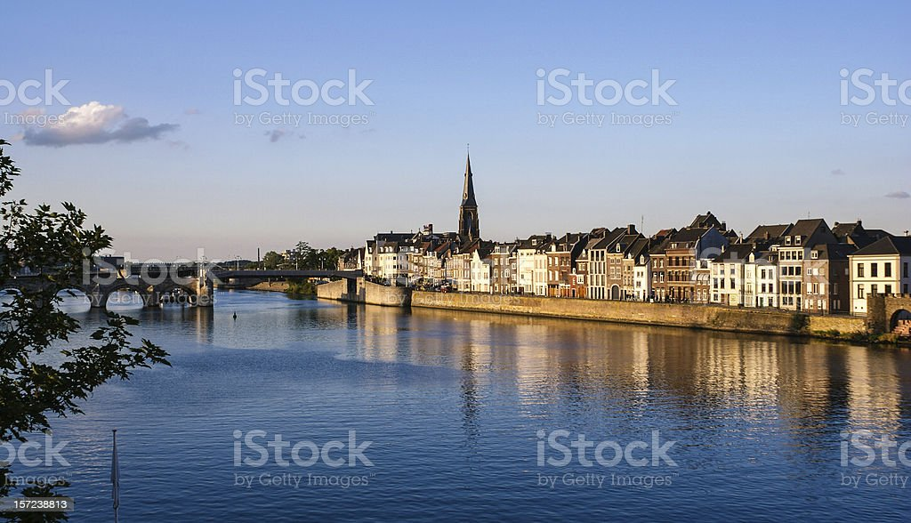 River Mass, Maastricht stock photo