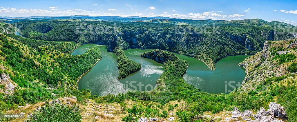 River meanders stock photo