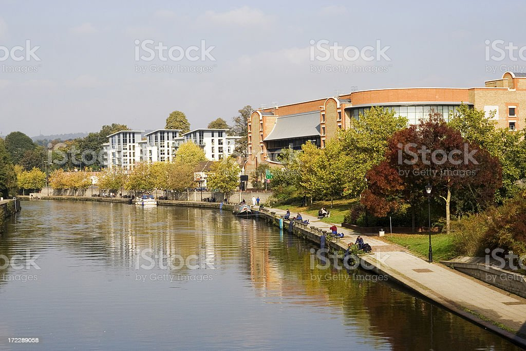 River Medway in Maidstone stock photo
