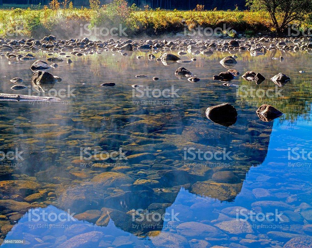 River Merced, Yosemite National Park, California stock photo