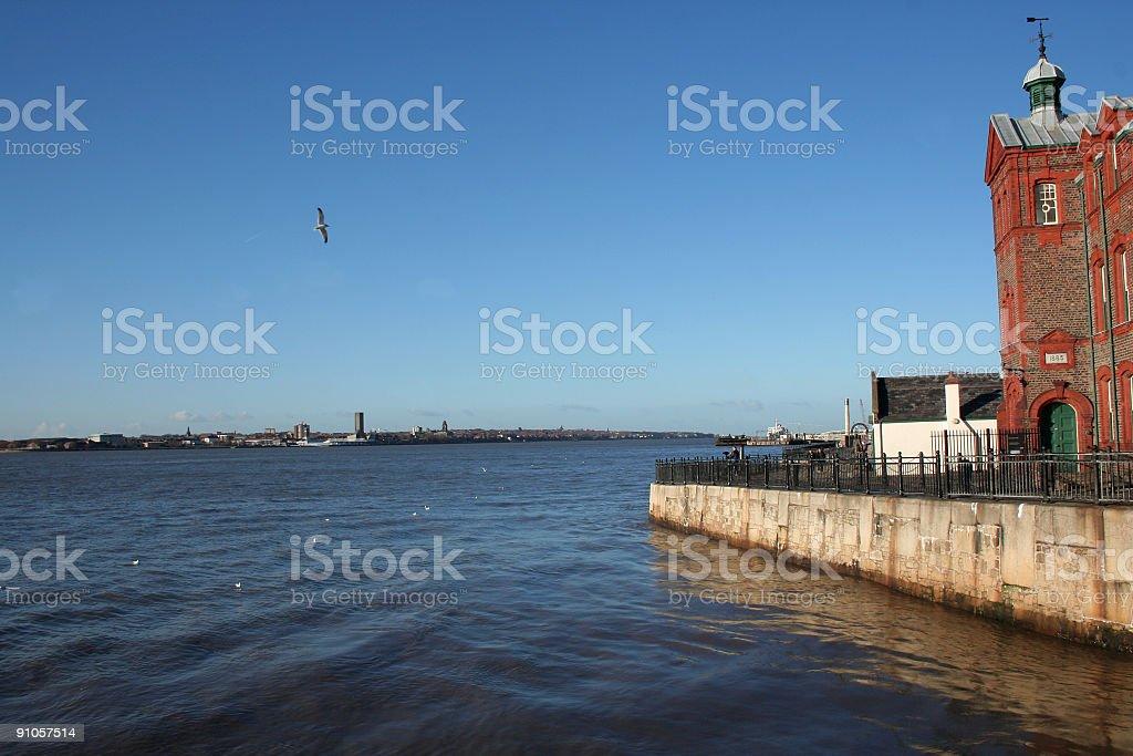 River Mersey stock photo